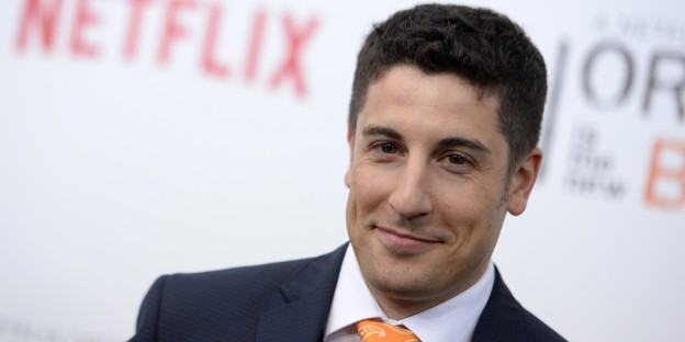"Jason Biggs attends the Season 2 premiere for 'Orange is the New Black"" at the Ziegfeld Theatre in New York City on May 15, 2014."